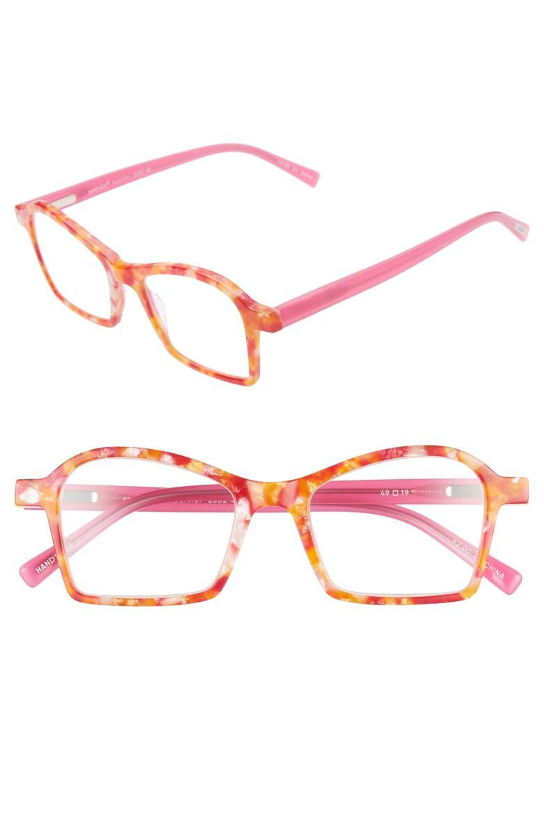 EYEBOBS Sparkler 49mm Reading Glasses, Main, color, PINK ORANGE MULTI