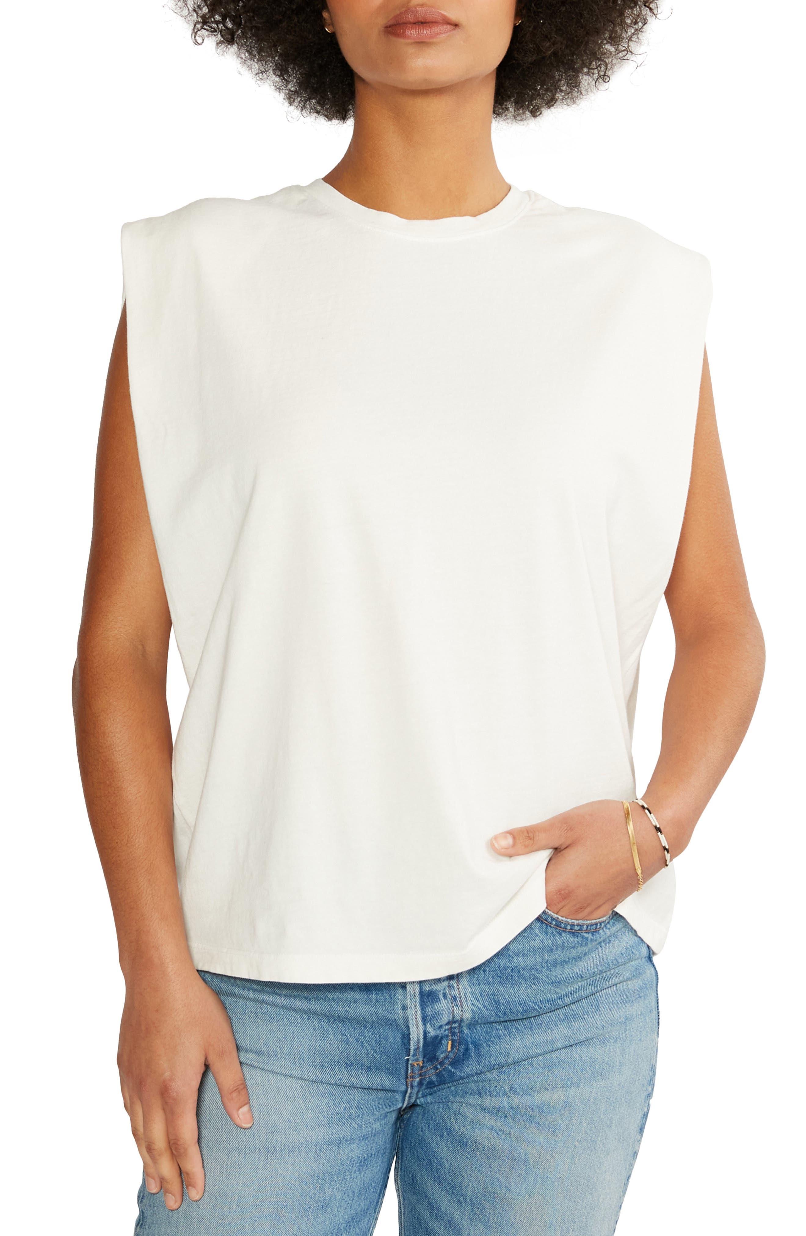 Women's Etica Anais Strong Shoulder Organic Cotton Jersey Tank