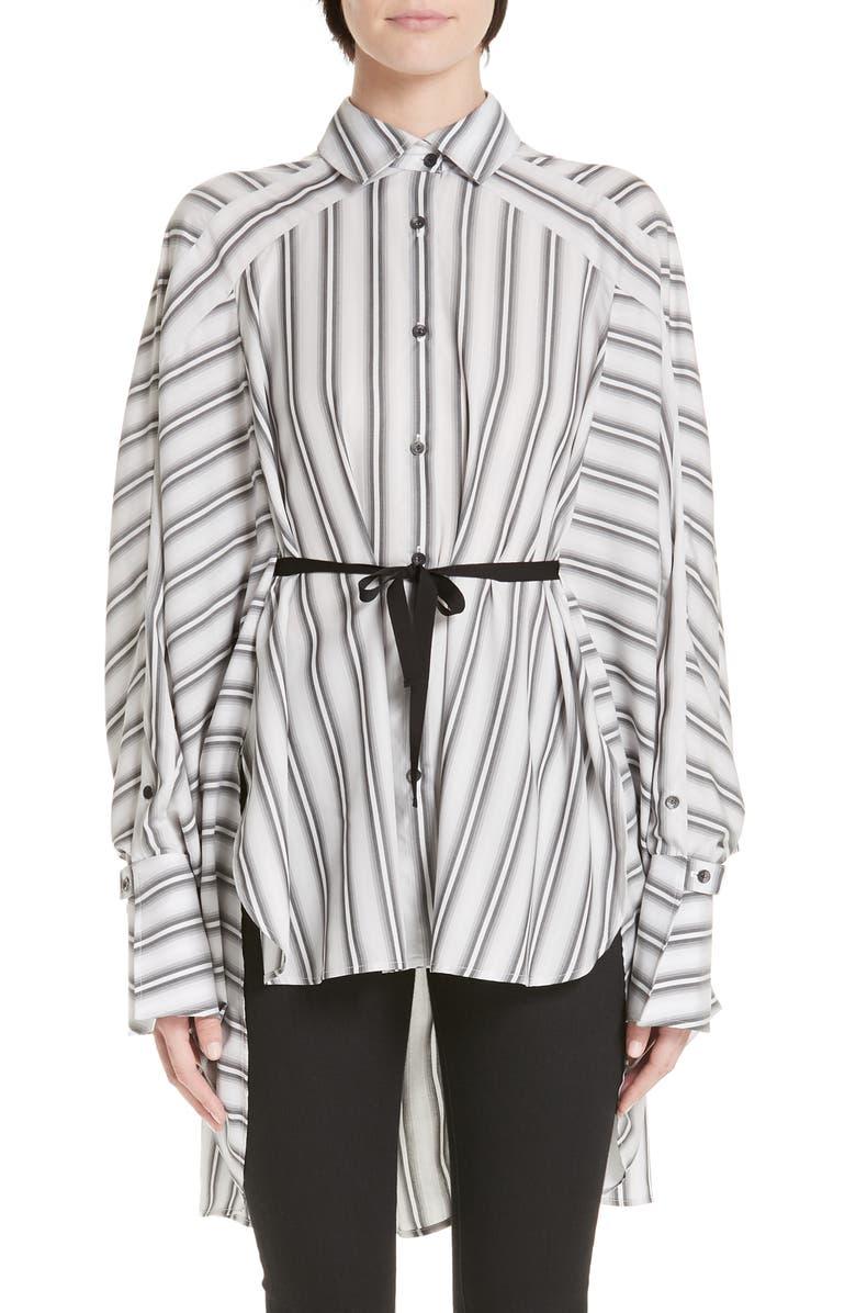 PALMER/HARDING Streep Stripe Shirt, Main, color, 100