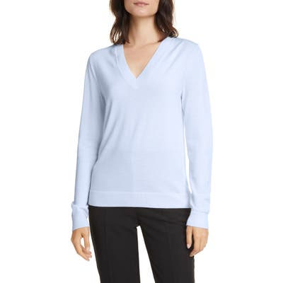 Boss Fabrona Virgin Wool Sweater, Blue