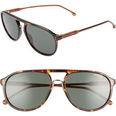 Carrera Eyewear 5m Aviator Sunglasses - Dark Havana/ Green
