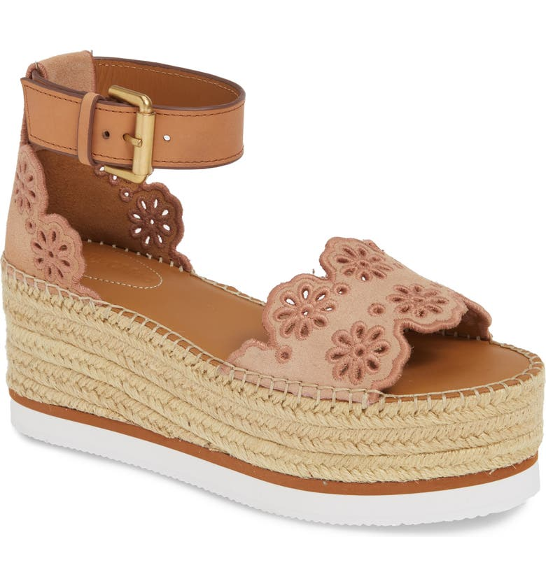 SEE BY CHLOÉ Glyn Wedge Espadrille Sandal, Main, color, 250
