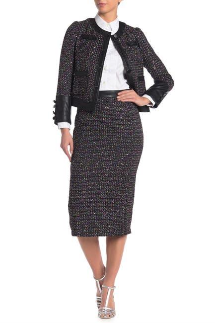 Image of Gracia Sequined Tweed Midi Skirt
