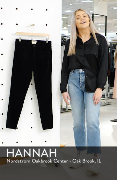 Margot Velvet Crop Skinny Jeans, sales video thumbnail