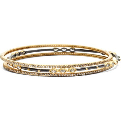 Freida Rothman Encrusted Bangles (Set Of 3)