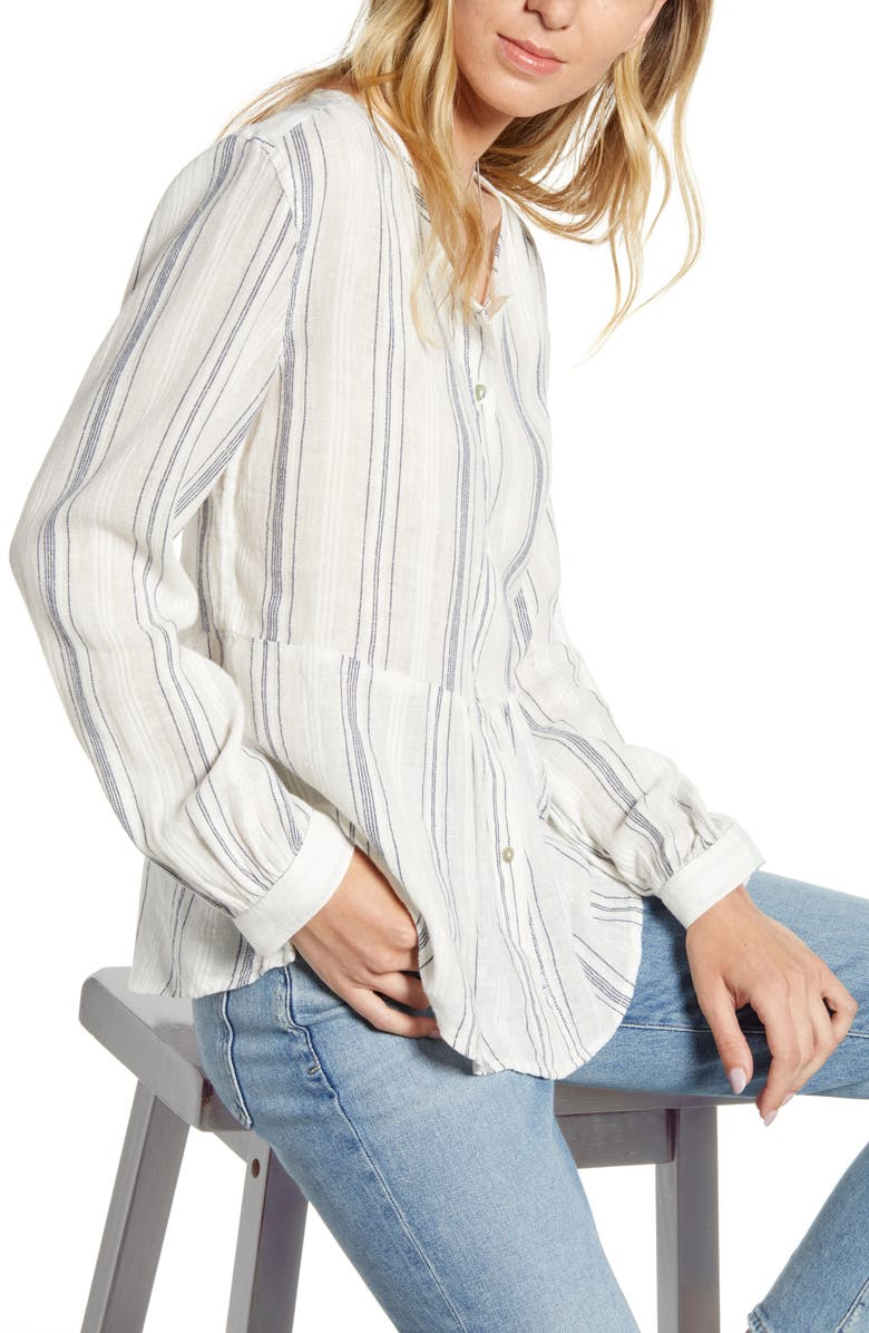RAILS Celeste Stripe Linen Blend Top, Main, color, CHALET STRIPE
