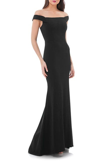 Image of Carmen Marc Valvo Infusion Carmen Marc Valvo Crepe Gown