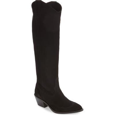 Allsaints Valery Western Knee High Boot, Black