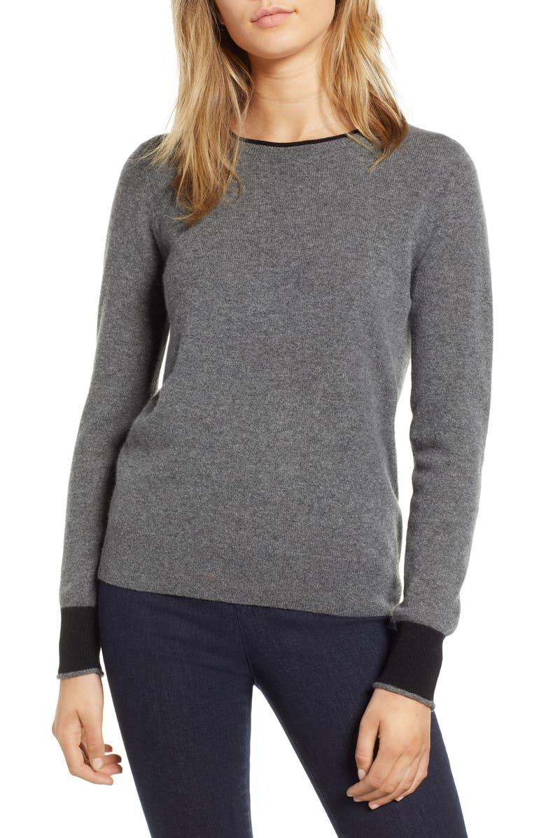 1901 Cashmere Crewneck Sweater, Main, color, 021