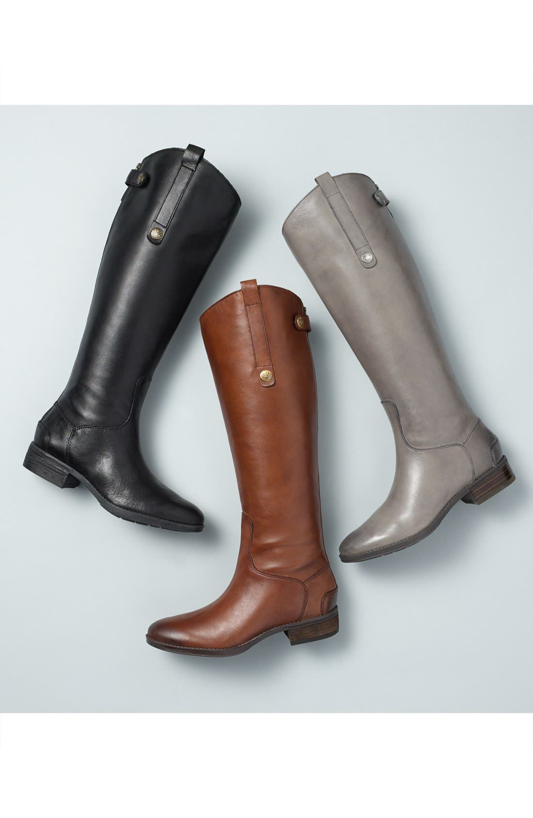 ,                             Penny Boot,                             Alternate thumbnail 7, color,                             BLACK WIDE CALF