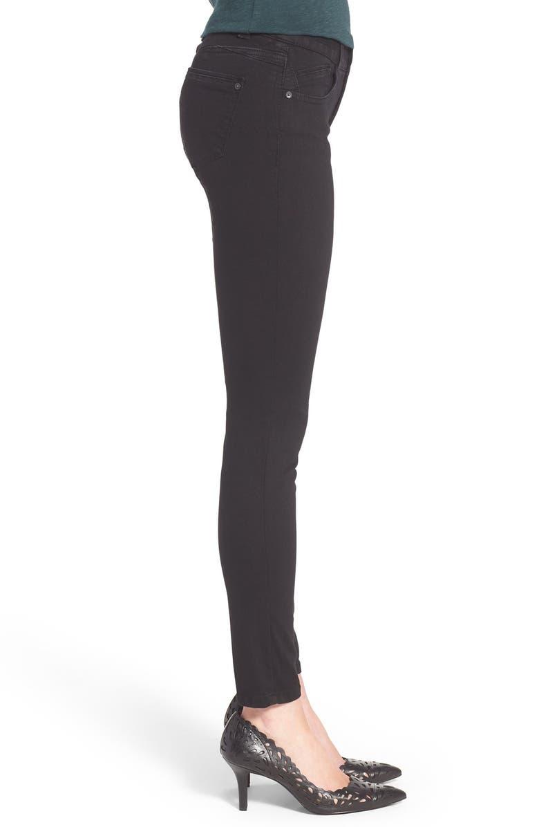 WIT & WISDOM Ab-solution Stretch Skinny Jeans, Alternate, color, BLACK