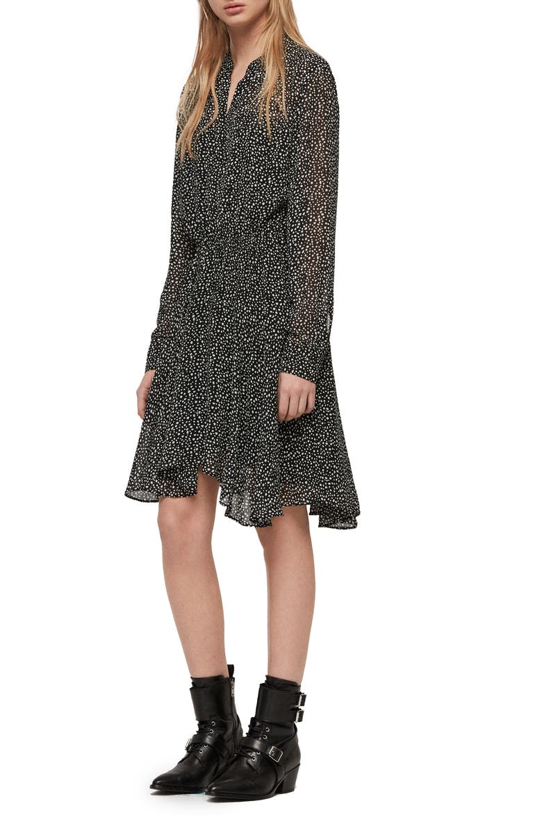 ALLSAINTS Martina Splash Print Dress, Main, color, 014
