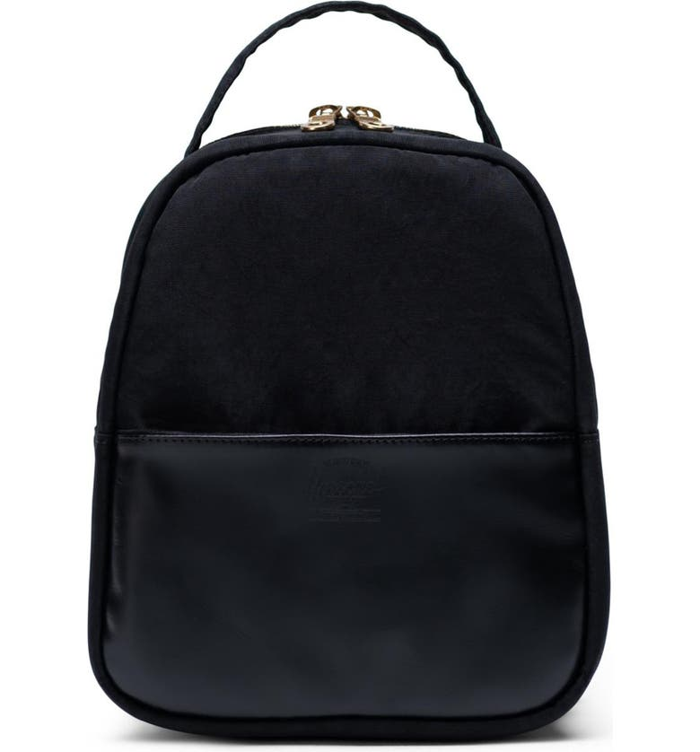 HERSCHEL SUPPLY CO. Mini Orion Backpack, Main, color, BLACK LEATHER
