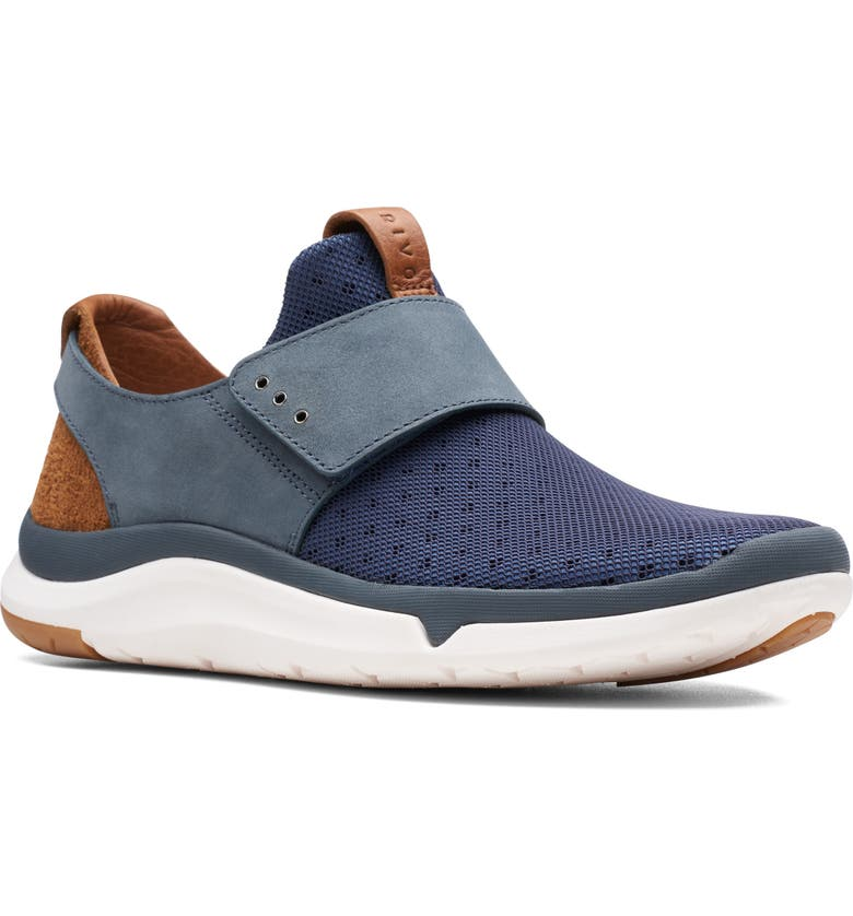 CLARKS<SUP>®</SUP> Privo Flux Slip-On Sneaker, Main, color, NAVY LEATHER