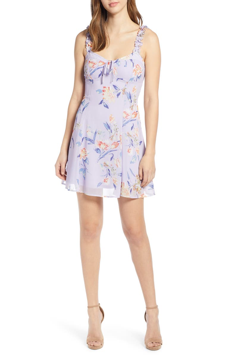Corset Floral Print Minidress by Leith