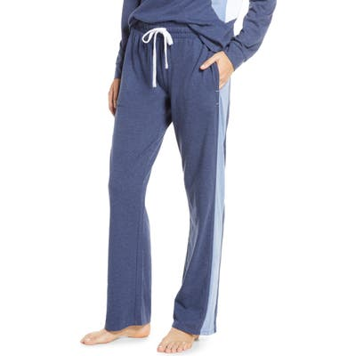 Splendid Colorblock Stripe Pajama Pants, Blue