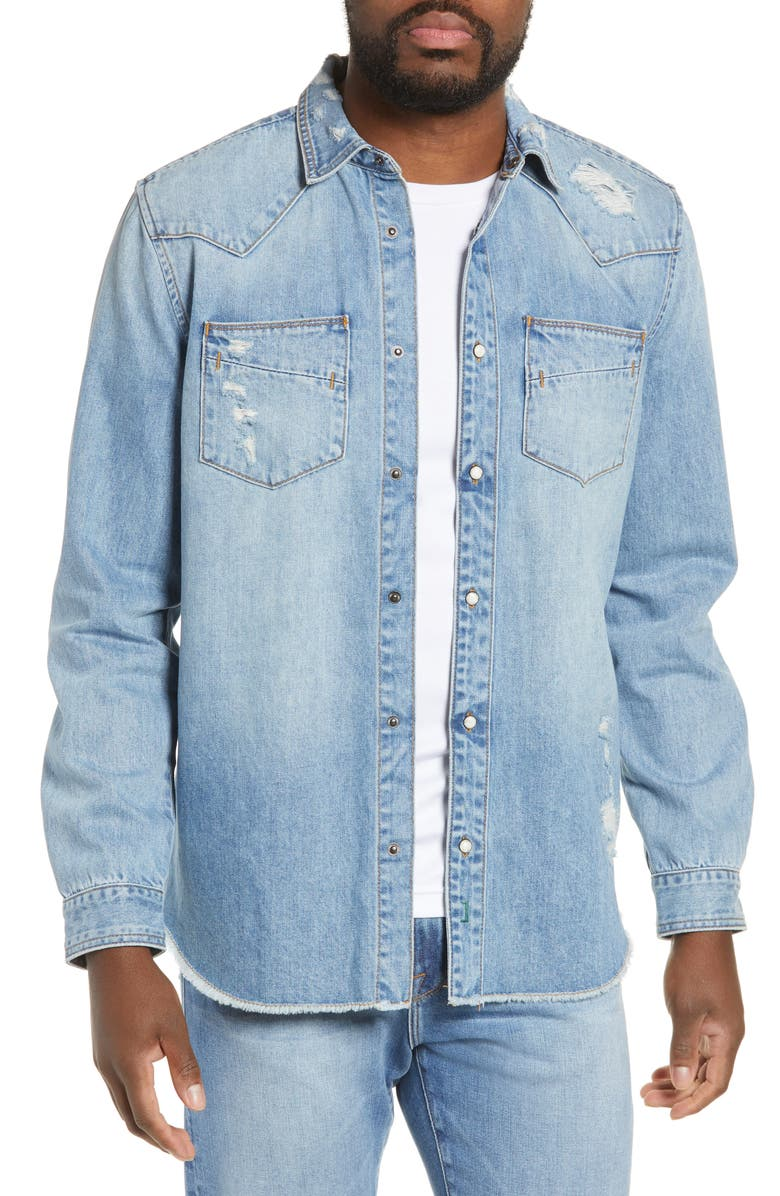 BLANKNYC Western Denim Jacket, Main, color, 426