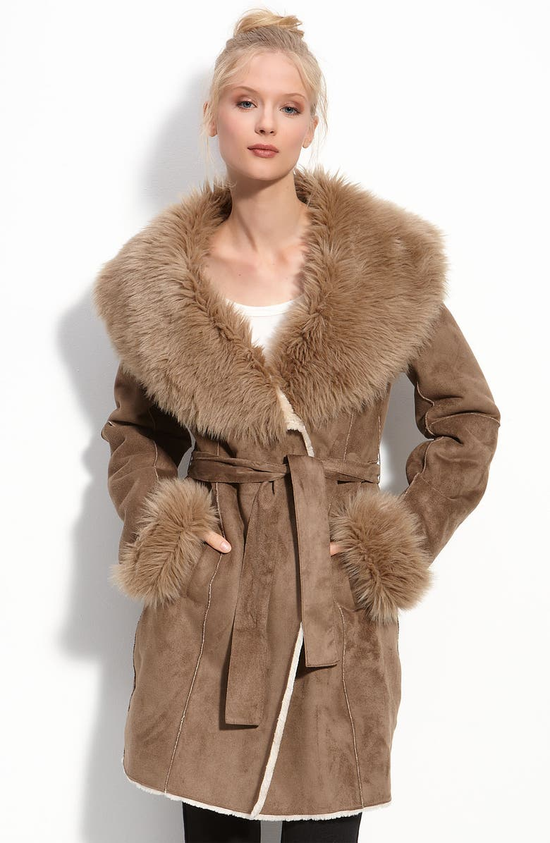 6beb3b2579b5 Calvin Klein Faux Shearling Coat | Nordstrom