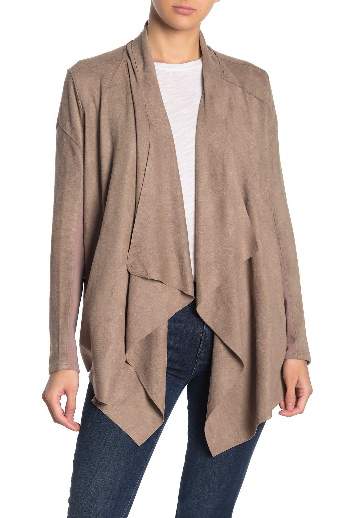 Image of BLANKNYC Denim Faux Suede Draped Jacket