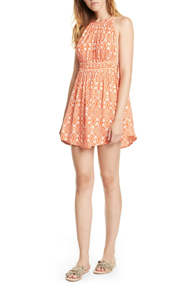 FREE PEOPLE Midsummer's Day Tunic Tank Top, Main, color, RED COMBO