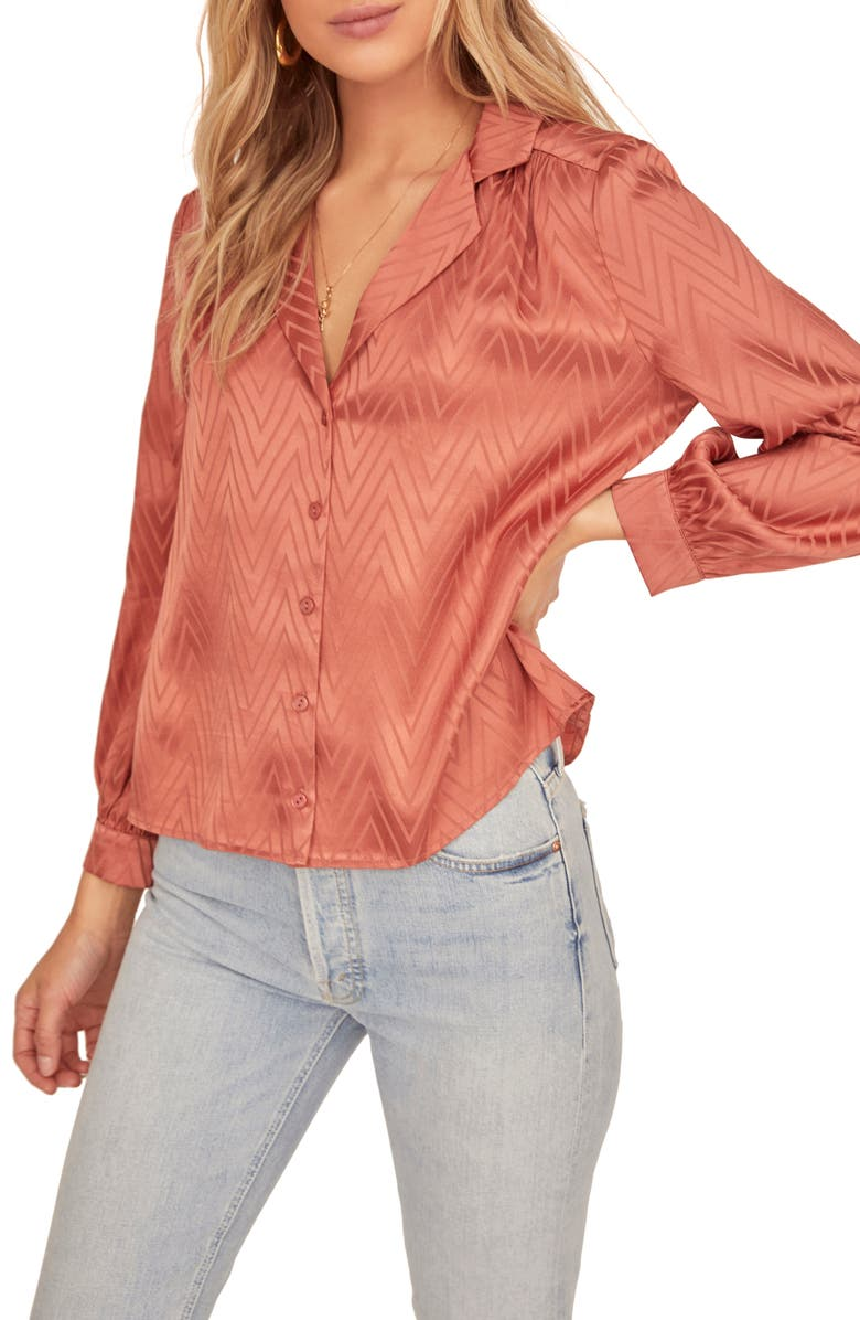 ASTR THE LABEL Emilia Long Sleeve Top, Main, color, CANYON