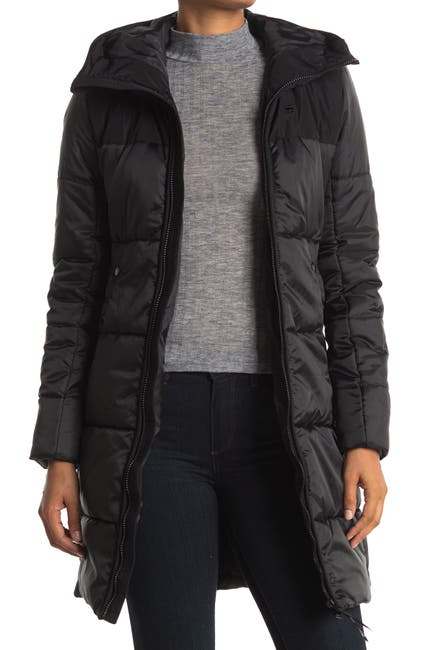 Image of G-STAR RAW Quilted Hooded Puffer Jacket