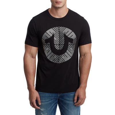True Religion Brand Jeans Gel Horseshoe T-Shirt, Black