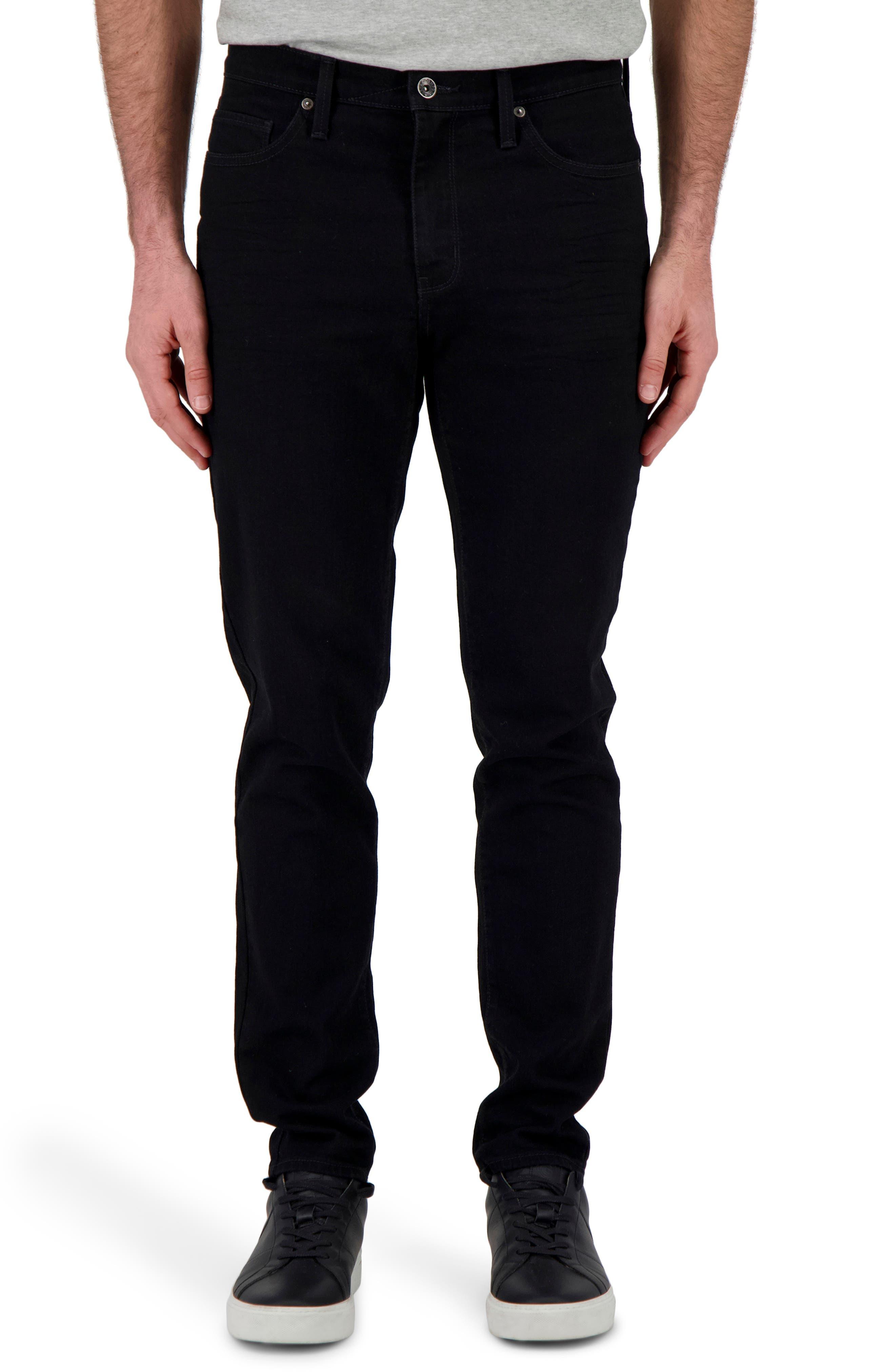 Men's Devil-Dog Dungarees Slim Straight Fit Performance Stretch Jeans,  36 x 32 - Black