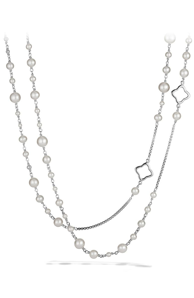 DAVID YURMAN Bijoux Chain Necklace with Pearls, Main, color, PEARL