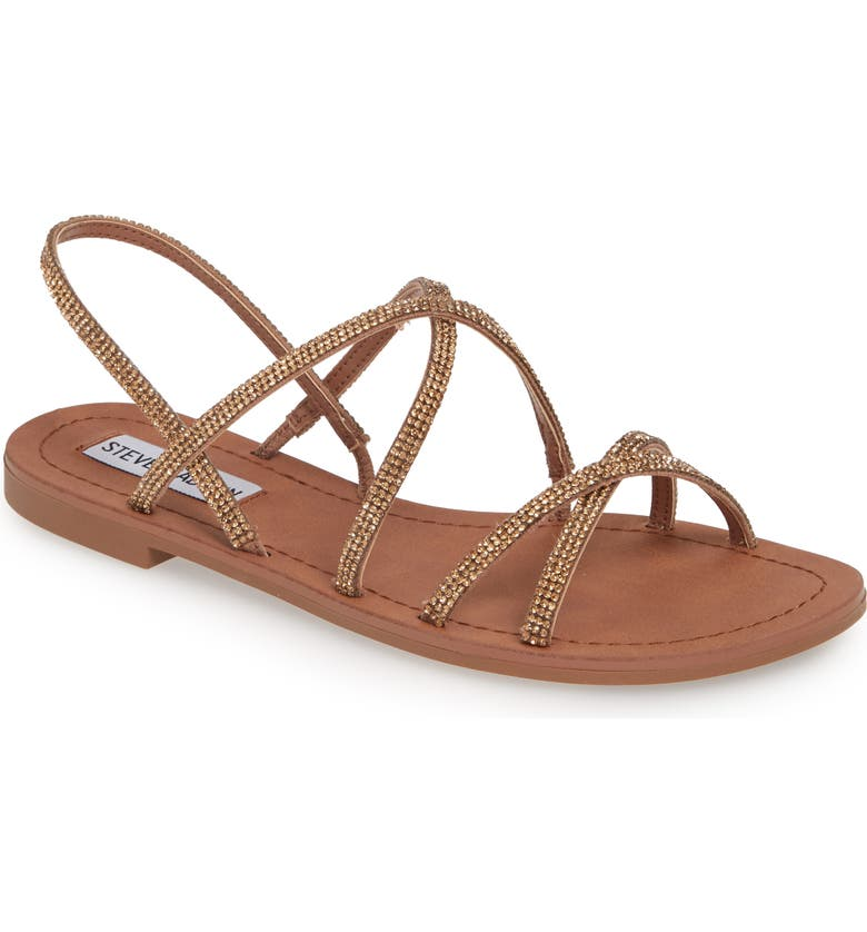 STEVE MADDEN Rita Embellished Strappy Sandal, Main, color, 200