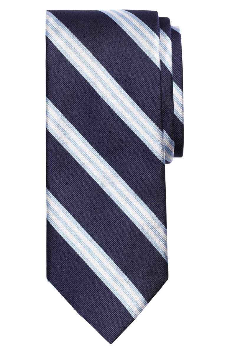 BROOKS BROTHERS Stripe Silk Tie, Main, color, 411