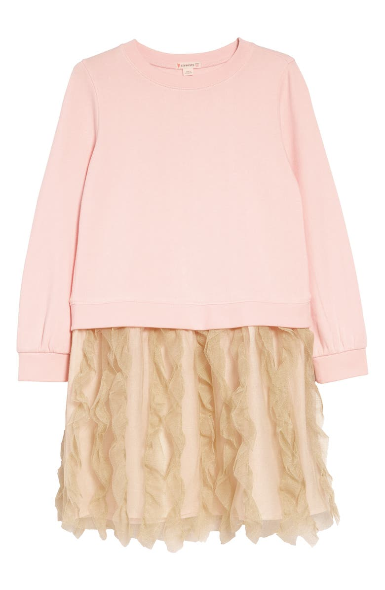 CREWCUTS BY J.CREW Tulle Mixy Dress, Main, color, PINK GOLD SHIMMER
