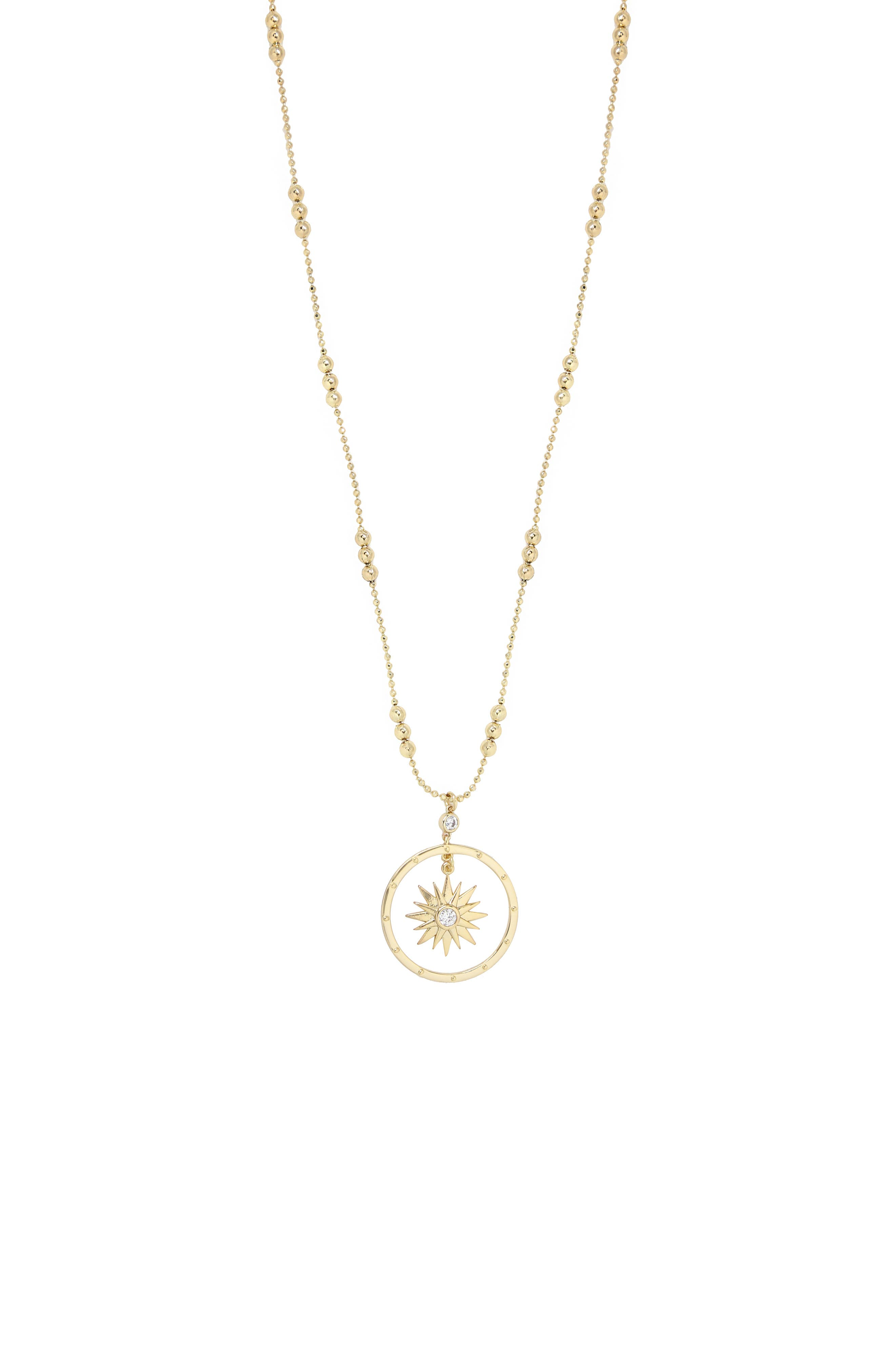 Long Starburst Pendant Necklace