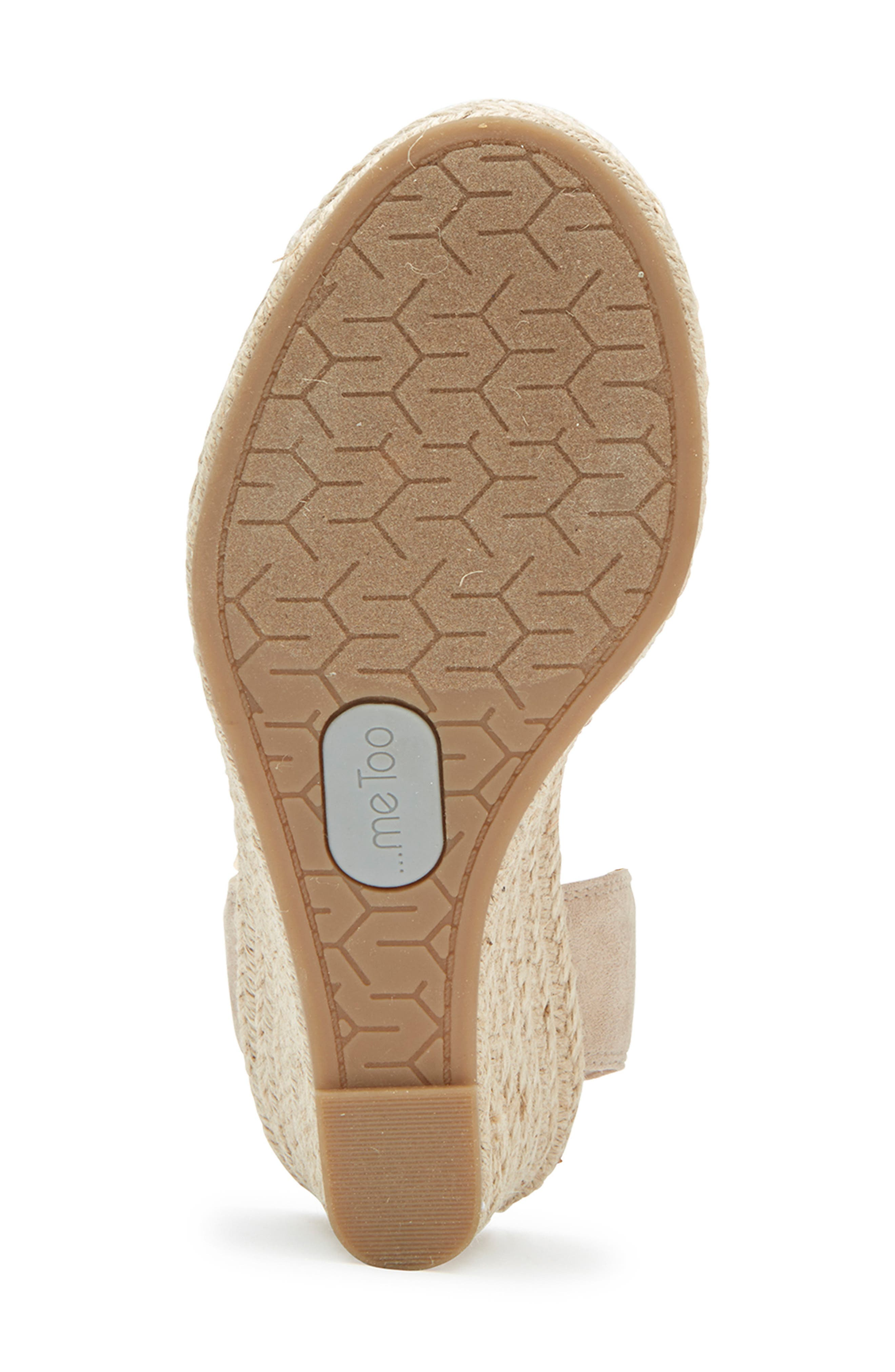 ,                             Brenna Espadrille Wedge Sandal,                             Alternate thumbnail 6, color,                             TAN FABRIC