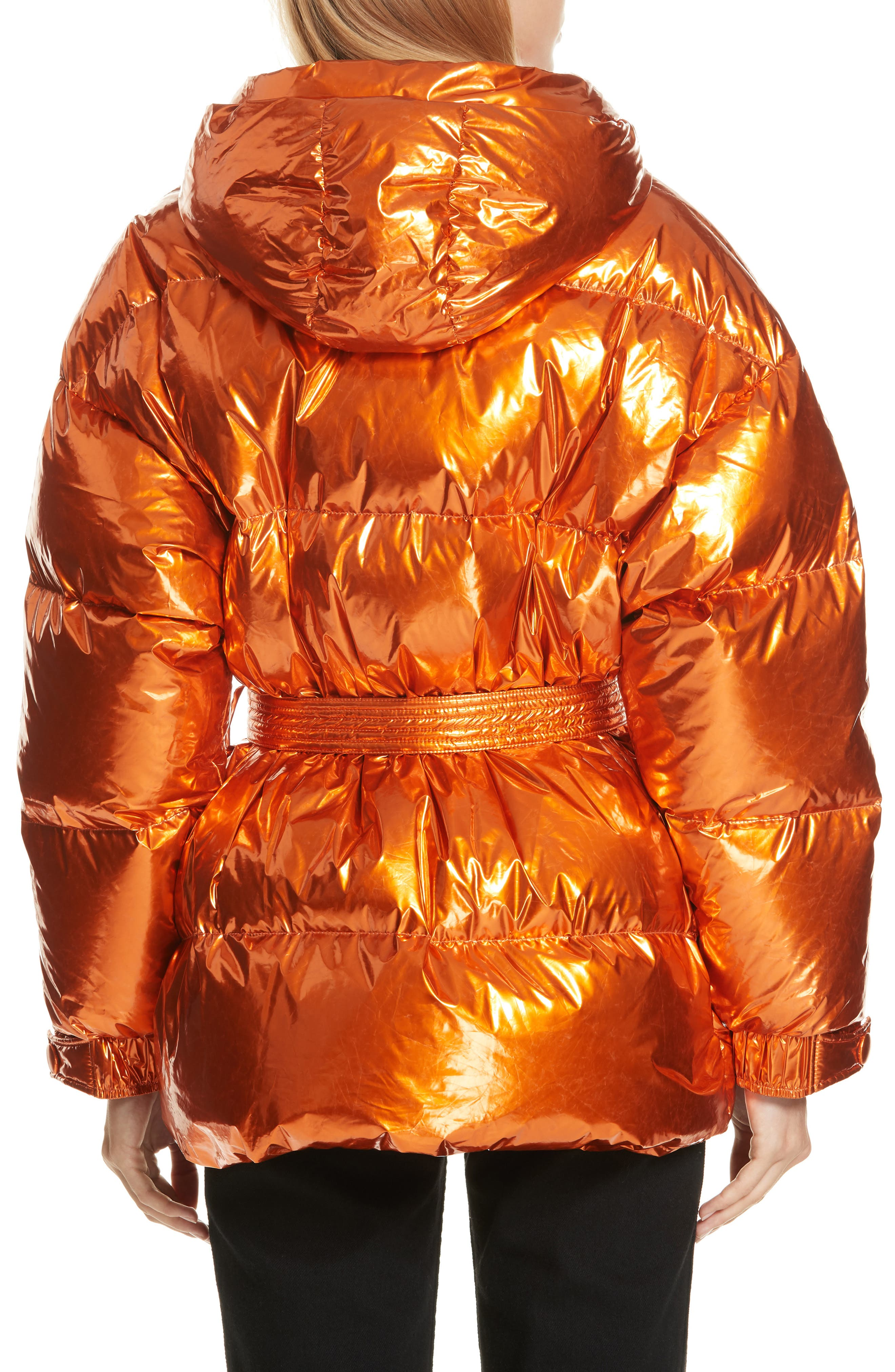,                             Michelin Hooded Down Puffer Coat,                             Alternate thumbnail 23, color,                             800