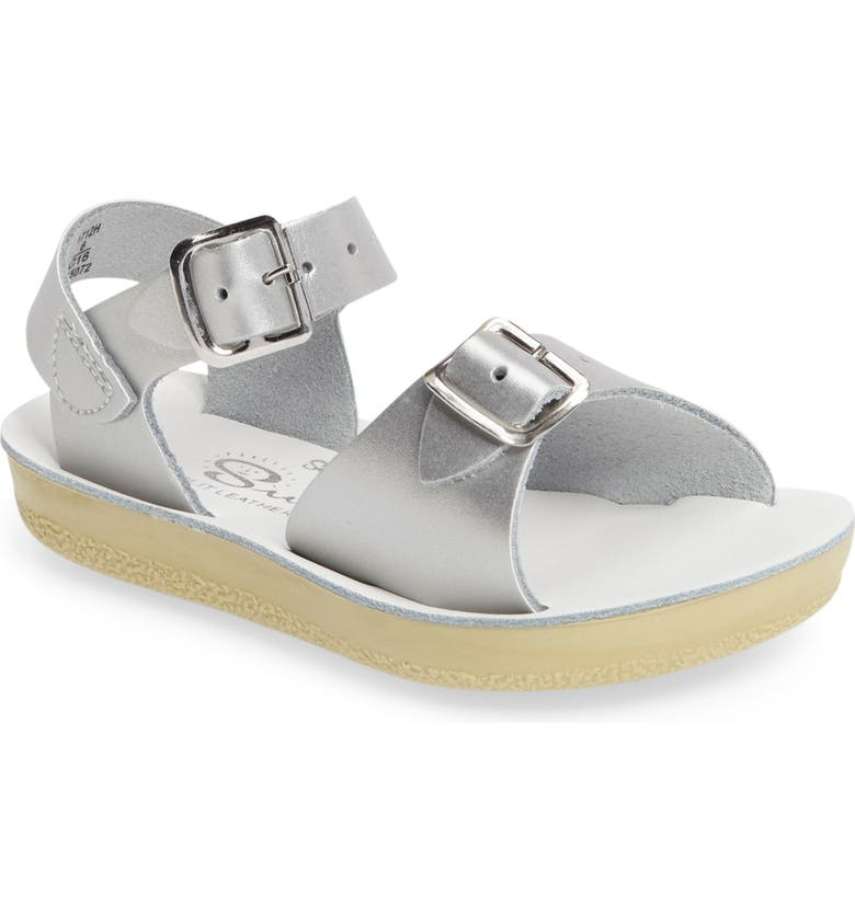 SALT WATER SANDALS BY HOY Surfer Water Friendly Sandal, Main, color, SILVER