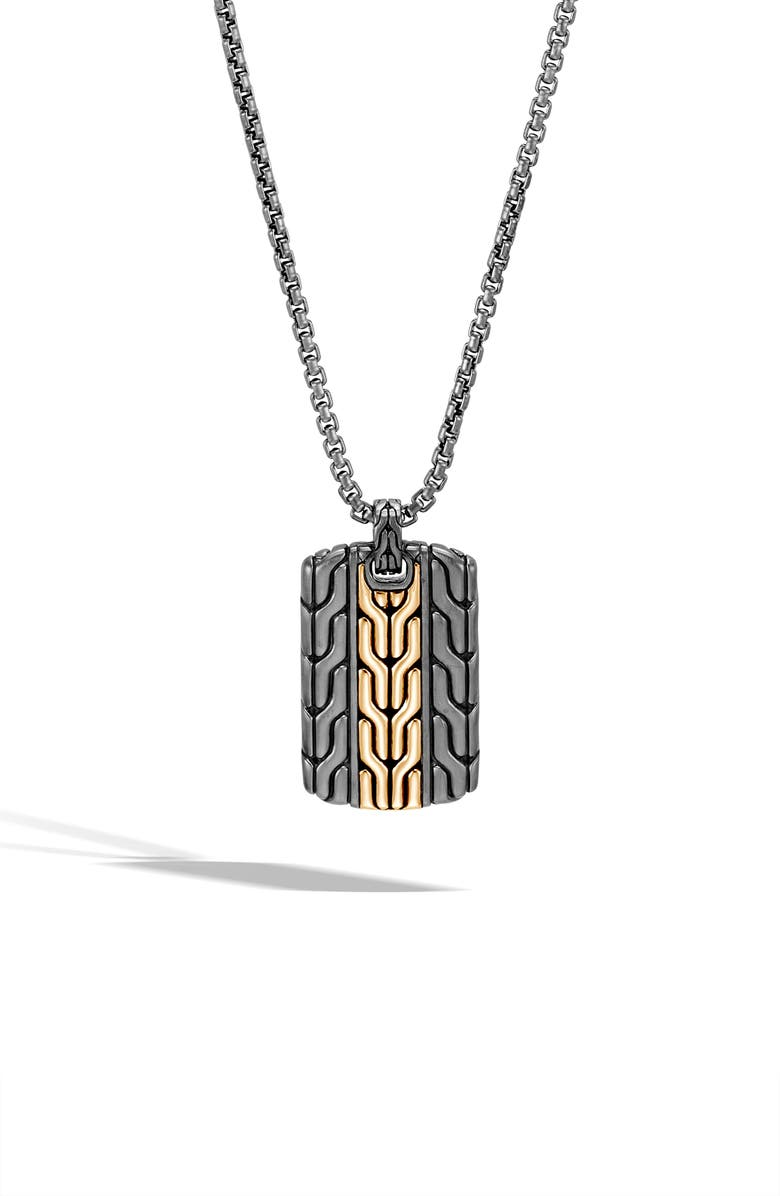 JOHN HARDY Men's Classic Chain Dog Tag Necklace, Main, color, 040
