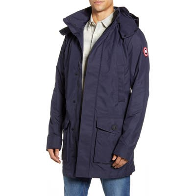 Canada Goose Crew Trench Jacket With Removable Hood, Blue