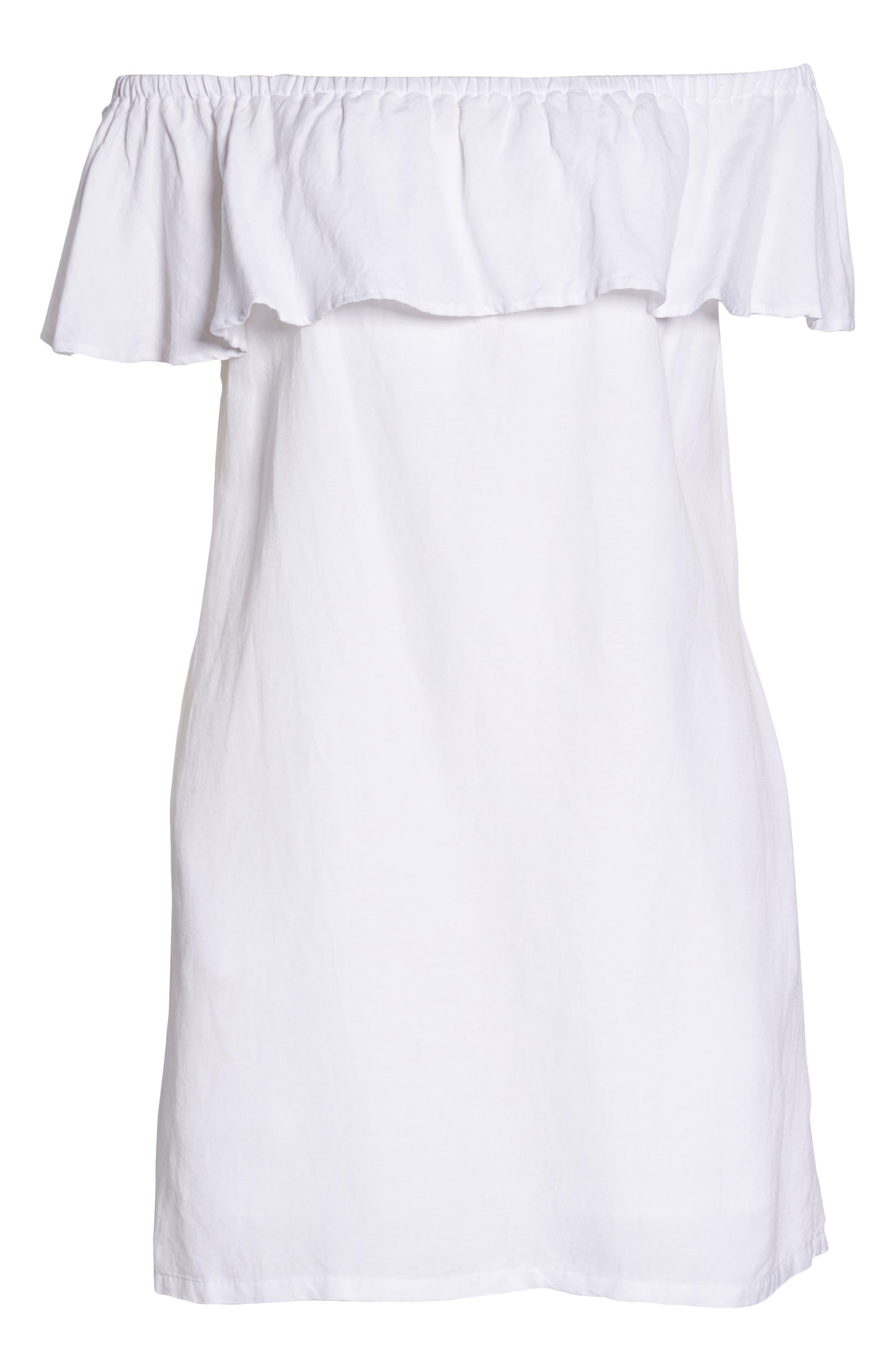 ,                             Off the Shoulder Cover-Up Dress,                             Alternate thumbnail 13, color,                             100