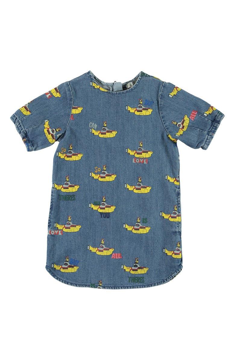 STELLA MCCARTNEY KIDS Yellow Submarine Dress, Main, color, BLUE