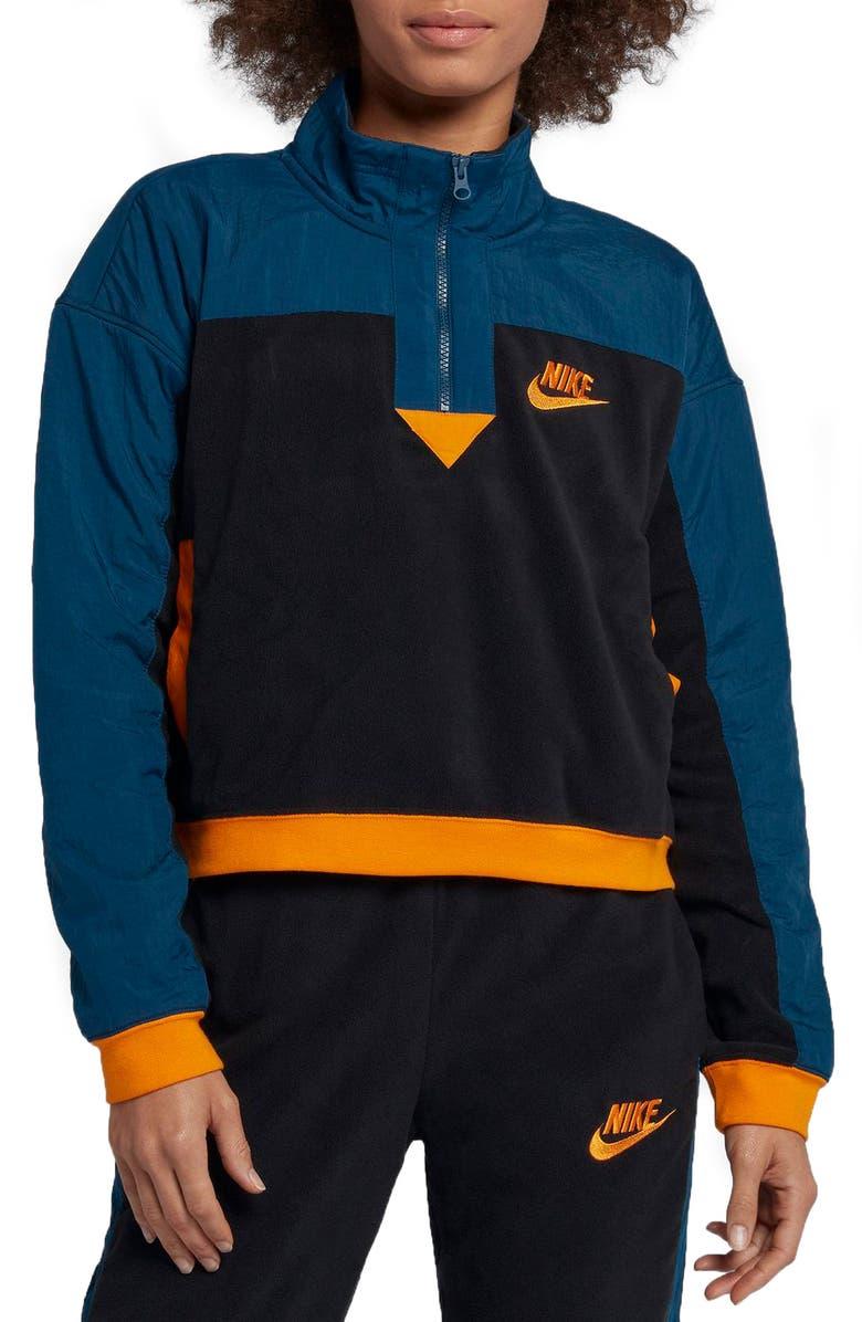 NIKE Sportswear Women's Half Zip Top, Main, color, 010