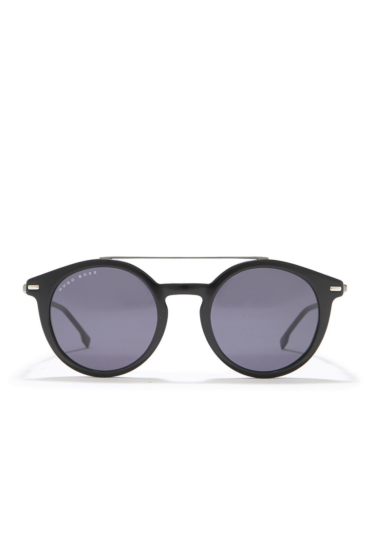 Image of BOSS 49mm Round Sunglasses