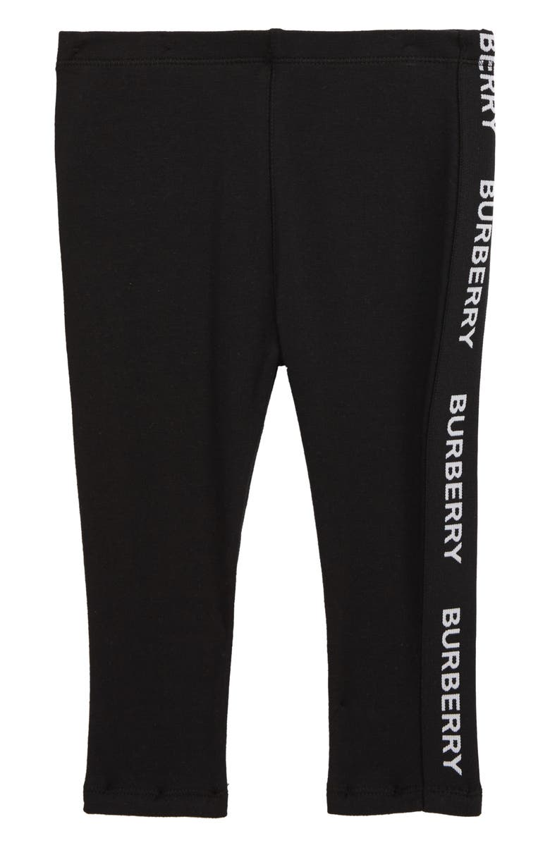 BURBERRY Krista Leggings, Main, color, BLACK