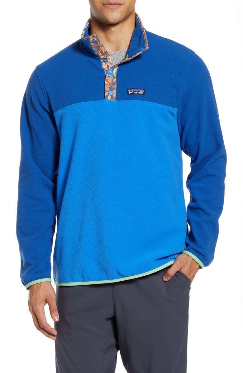 PATAGONIA Micro-D<sup>®</sup> Snap-T<sup>®</sup> Fleece Pullover, Main, color, BAYOU BLUE