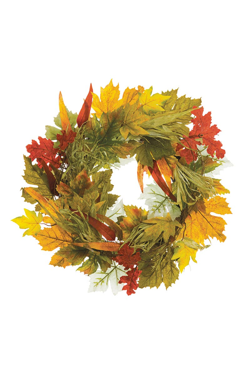 ALLSTATE Maple Eucalyptus Fall Wreath, Main, color, FALL