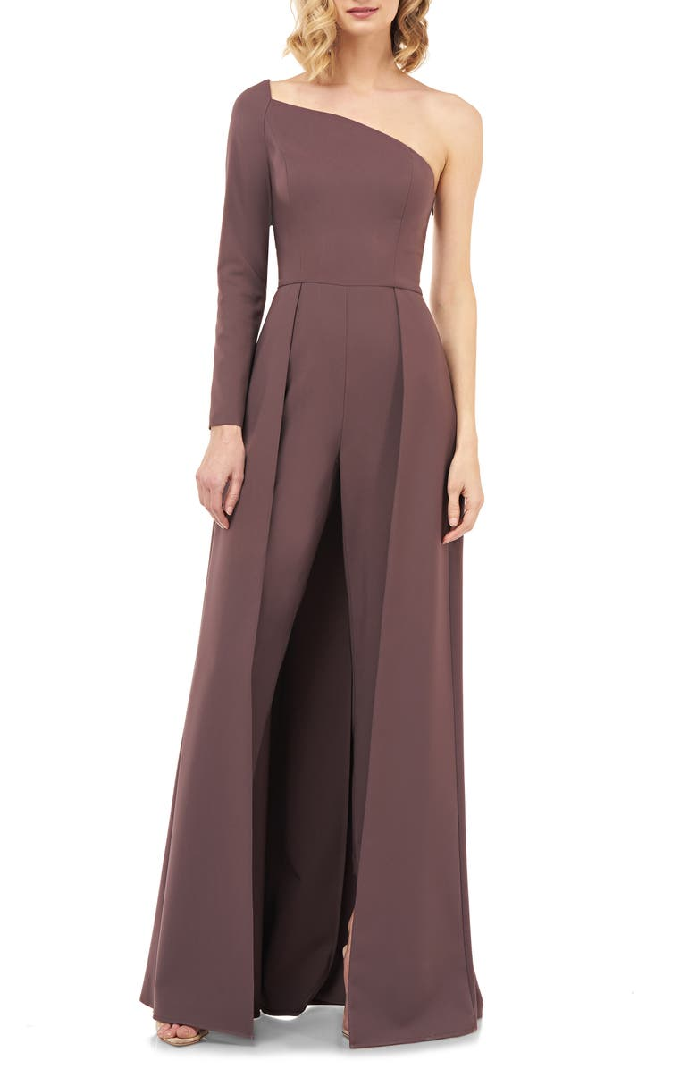 KAY UNGER One-Sleeve Maxi Romper, Main, color, MINK