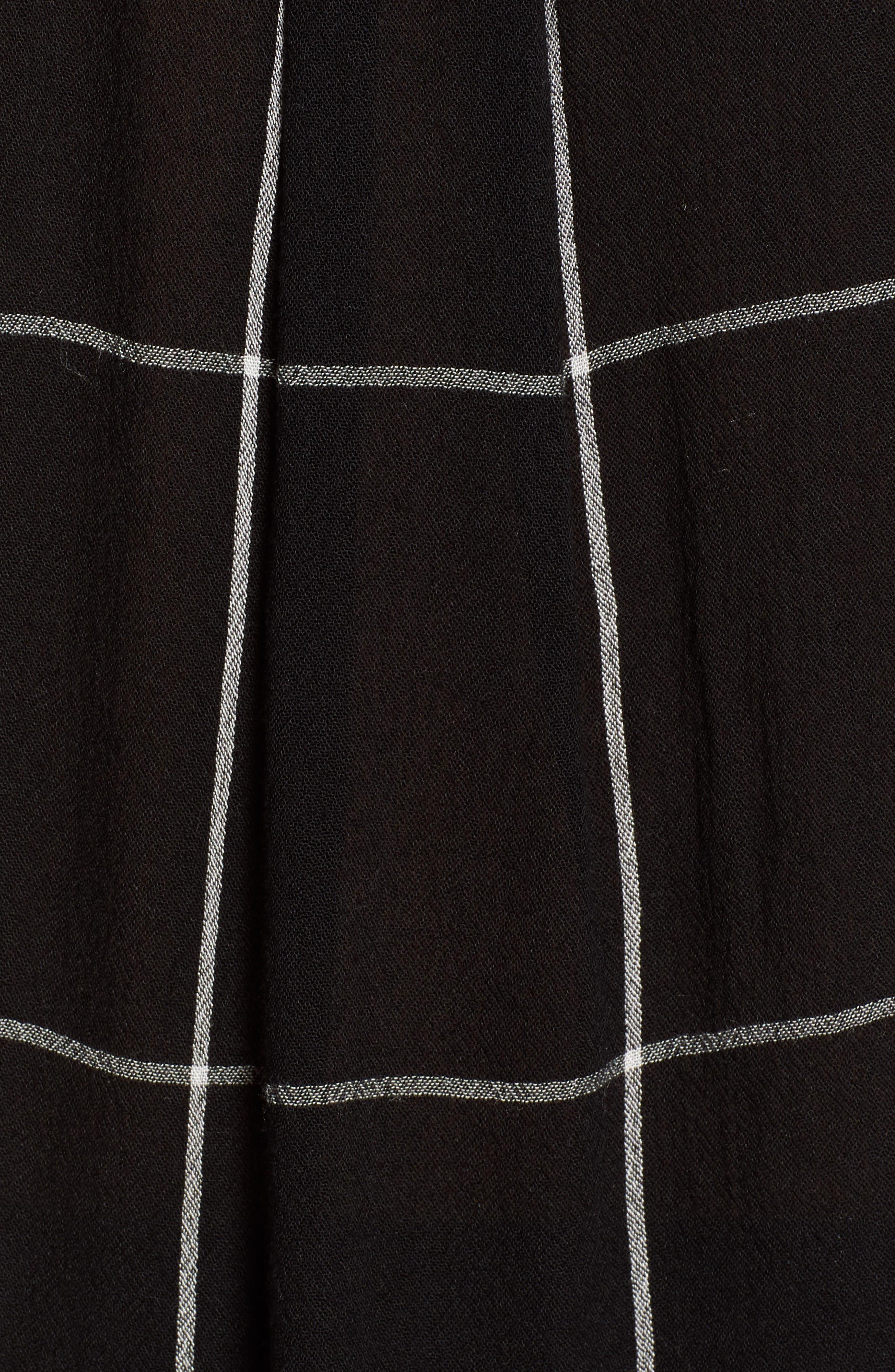 ,                             Sleeveless Shirt,                             Alternate thumbnail 5, color,                             BLACK MAZY WINDOW PANE