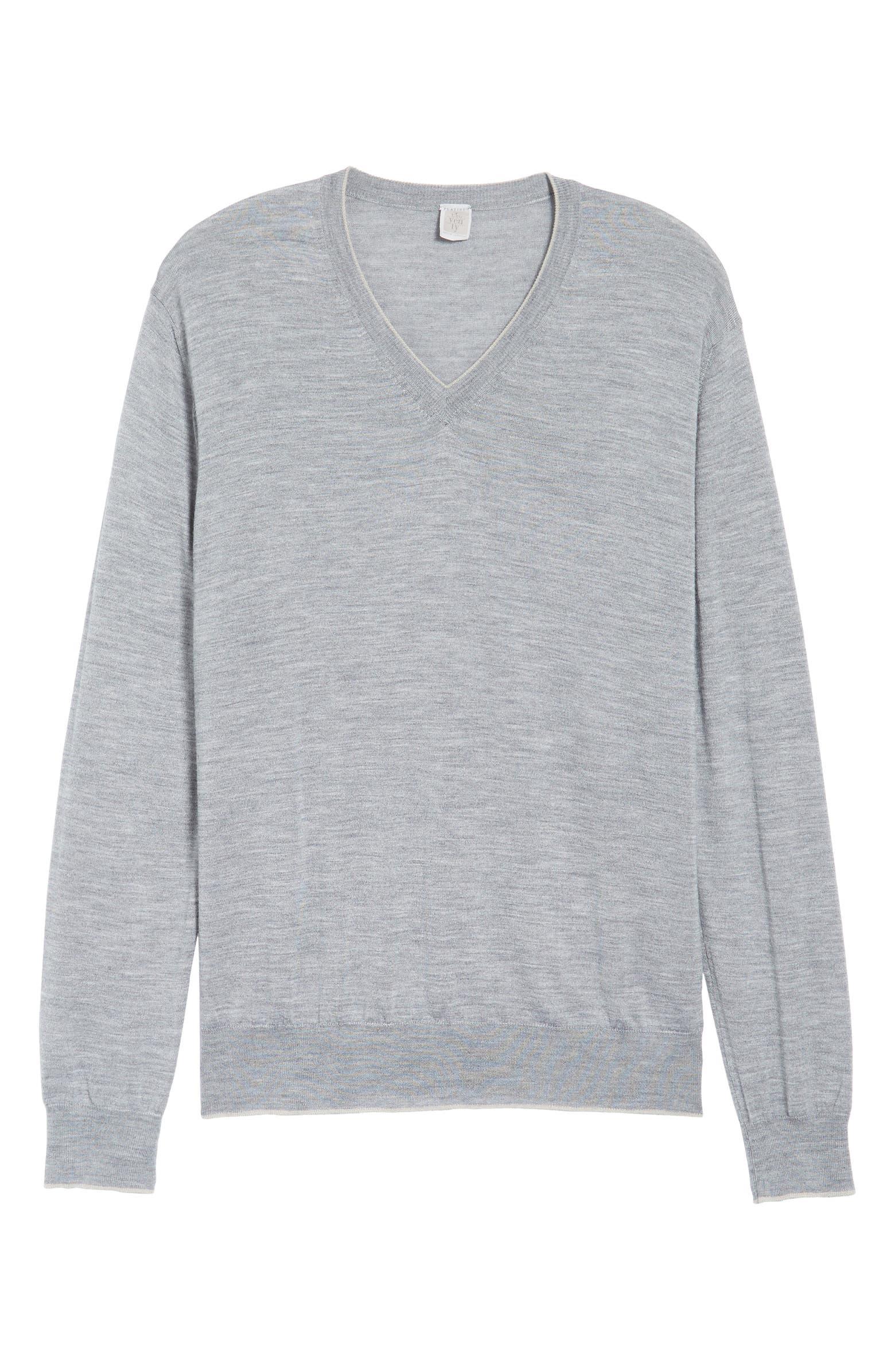 Merino Wool & Silk Tipped Sweater ELEVENTY