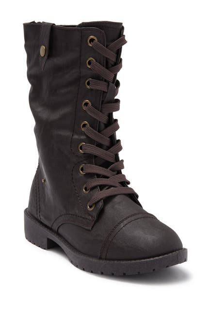 Image of Wanted Combat Boot With Fold Down Side