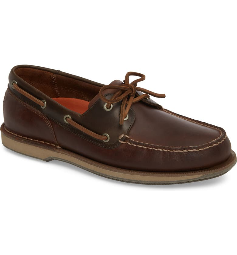 ROCKPORT 'Perth' Boat Shoe, Main, color, DARK BROWN LEATHER